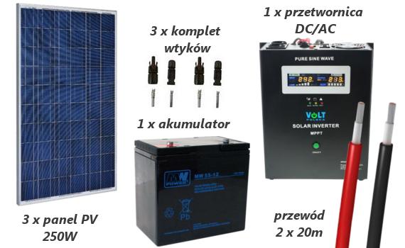 Fotowoltaika - zestaw PV o mocy 750W